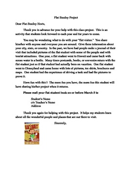 Flat stanley project host letter by anitra clark tpt flat stanley project host letter altavistaventures Image collections