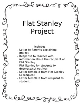 Flat Stanley Template Teaching Resources Teachers Pay Teachers