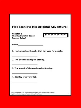 flat stanley guided reading level
