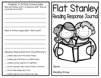 Flat Stanley Reading Response Journal