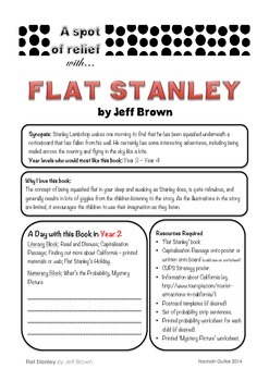Flat Stanley - Relief /Substitute Teacher Unit (A Spot of Relief)