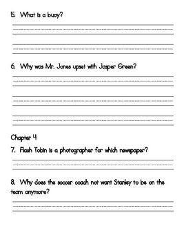 Book Club Comprehension Packet for Flat Stanley: Stanley, Flat Again