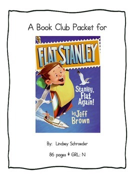Book Club Comprehension Packet for Flat Stanley: Stanley,