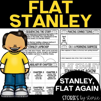 Flat Stanley: Stanley, Flat Again! Book Questions and Vocabulary
