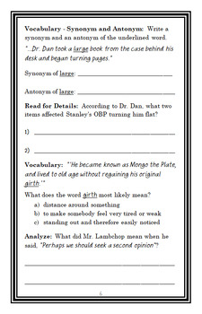 Flat Stanley: Stanley, Flat Again! (Jeff Brown) Novel Study / Comprehension