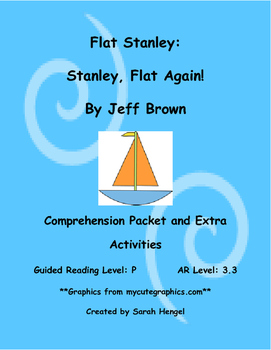 Flat Stanley: Stanley, Flat Again by Jeff Brown Comprehens