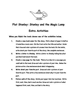 Flat Stanley: Stanley and the Magic Lamp by Jeff Brown Comprehension Packet