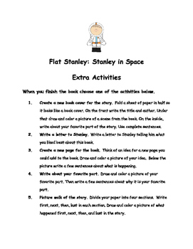 Flat Stanley: Stanley in Space by Jeff Brown Comprehension Packet