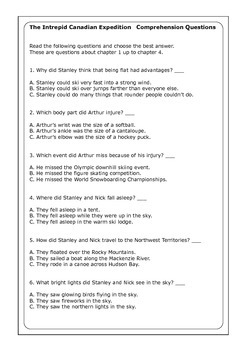 Flat Stanley Quot The Intrepid Canadian Expedition Quot Worksheets
