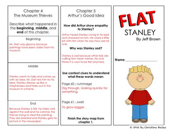 Flat Stanley Reading Response Trifold