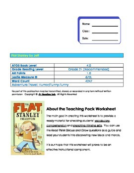 Flat Stanley Vocabulary and Comprehension