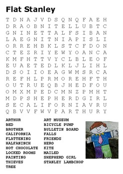 Flat Stanley Word Search