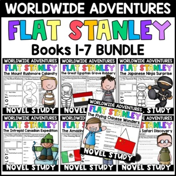 Flat Stanley Worldwide Adventures BUNDLE: Supplements for Books 1-5