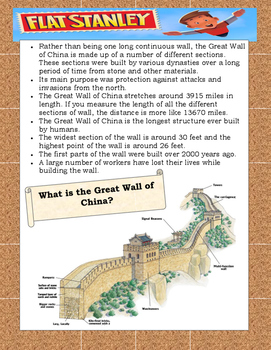 Flat Stanley Worldwide Adventures The Flying Chinese Wonders ELA Study Guide