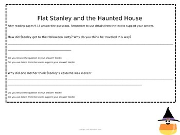 Flat Stanley and the Haunted House Comprehension Questions