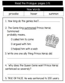 Flat Stanley and the Magic Lamp Reading Response Activities, Literature Unit