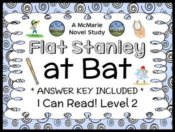 Flat Stanley at Bat (Flat Stanley) Novel Study / Reading Comprehension  (19 pgs)