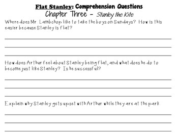 Flat Stanley by Jeff Brown:  A Complete Literature Study!