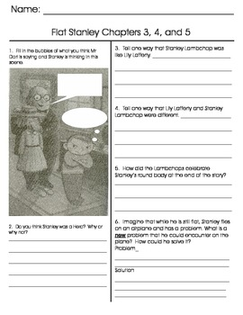 Flat Stanley chapter tests and paper dolls
