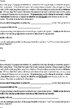 FRENCH ORAL PRESENTATION Flat Stanley Geography Project PARENT LETTER + RUBRIC