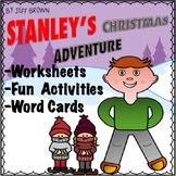 Flat Stanley's Christmas Adventure Novel Study No Prep Worksheets Activities