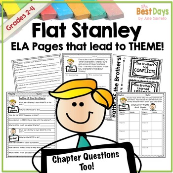 Flat Stanley's  Novel Study for His Original Adventure: ELA Activities and Theme