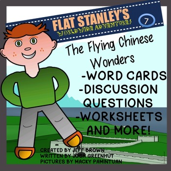 Flat Stanley's The Flying Chinese Wonders Novel Study No Prep Worksheets