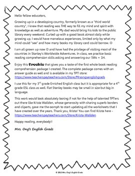 Flat Stanley's Escape to California Comprehension worksheet