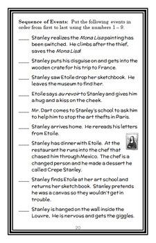 Flat Stanley's Worldwide Adventures #11: Framed in France Novel Study