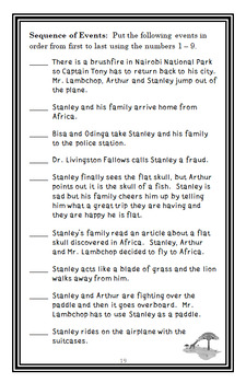 Flat Stanley's Worldwide Adventures #6: The African Safari Discovery Novel Study