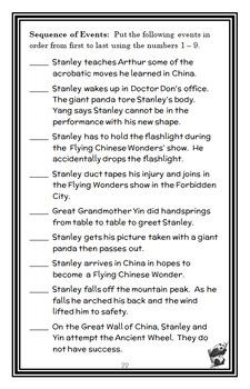 Flat Stanley's Worldwide Adventures #7: The Flying Chinese Wonders Novel Study