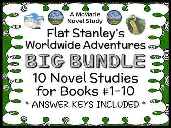 Flat Stanley's Worldwide Adventures BIG BUNDLE (Jeff Brown