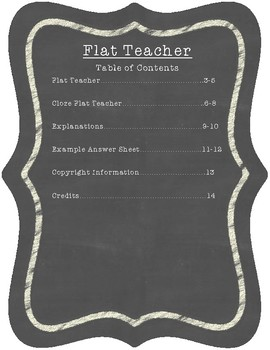 Flat Teacher: Comprehension, Vocabulary, and Testing Strategies