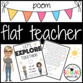 Flat Teacher Poem Printable