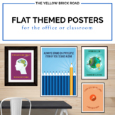 Flat Themed Posters for the Classroom or Office