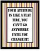 Flat Tire Attitude purple and gold