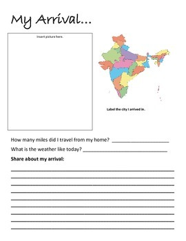 Flat Traveler Journal for India