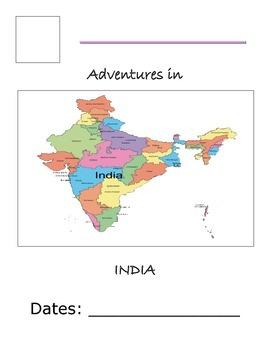 Flat Traveler Journal for India