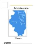 Flat Traveler Journal for USA State Illinois