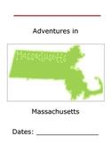Flat Traveler Journal for USA State Massachusetts