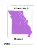 Flat Traveler Journal for USA State Missouri