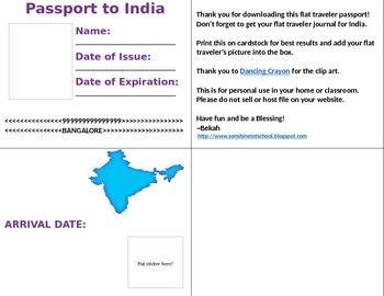Flat Traveler Passport to India