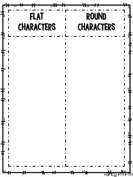 Flat and Round Characters
