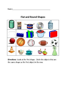 Flat and Round Shapes