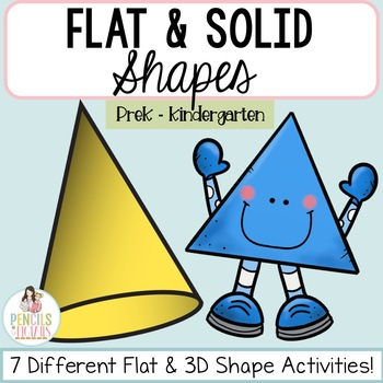 Flat and Solid / 3D Shapes - Clip Cards, Puzzles, Tracing, Sorts, & More!