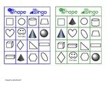 Flat and Solid Shape Bingo