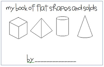 Flat and Solid Shape Book