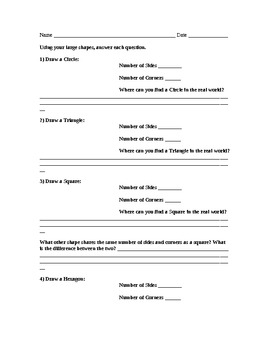 Flat shapes Worksheet