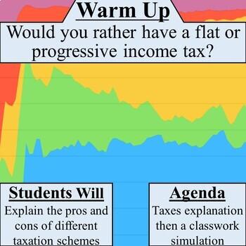 Flat vs Progressive Income Tax Simulation