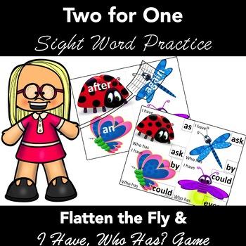 Flatten the Fly 1 Grade Sight Words: 2 COMPLETE ACTIVITIES
